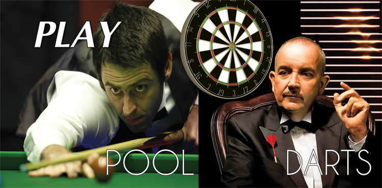 Play Pool, Darts in Paphos, Cyprus Banner